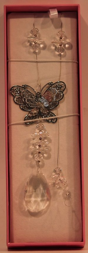 Crystal Butterfly Suncatcher  #butterfly #suncatcher