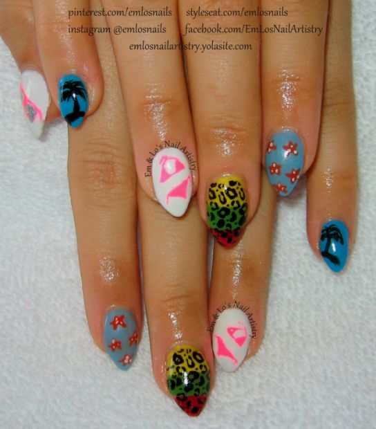1000+ Ideas About Beach Vacation Nails On Pinterest
