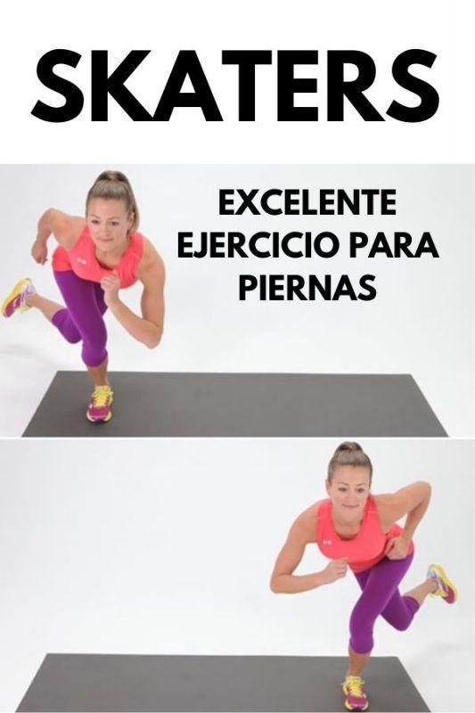 Los skaters es un ejercicio muy efectivo para trabajar la musculatura de todo el tren inferior y estimular movimientos dentro del plano lateral (te moverás hacia los costados). Runner Tips, Yoga, Gym, Sports, Runners, Isometric Exercises, Leg Workouts, Fitness Exercises, Workout Exercises