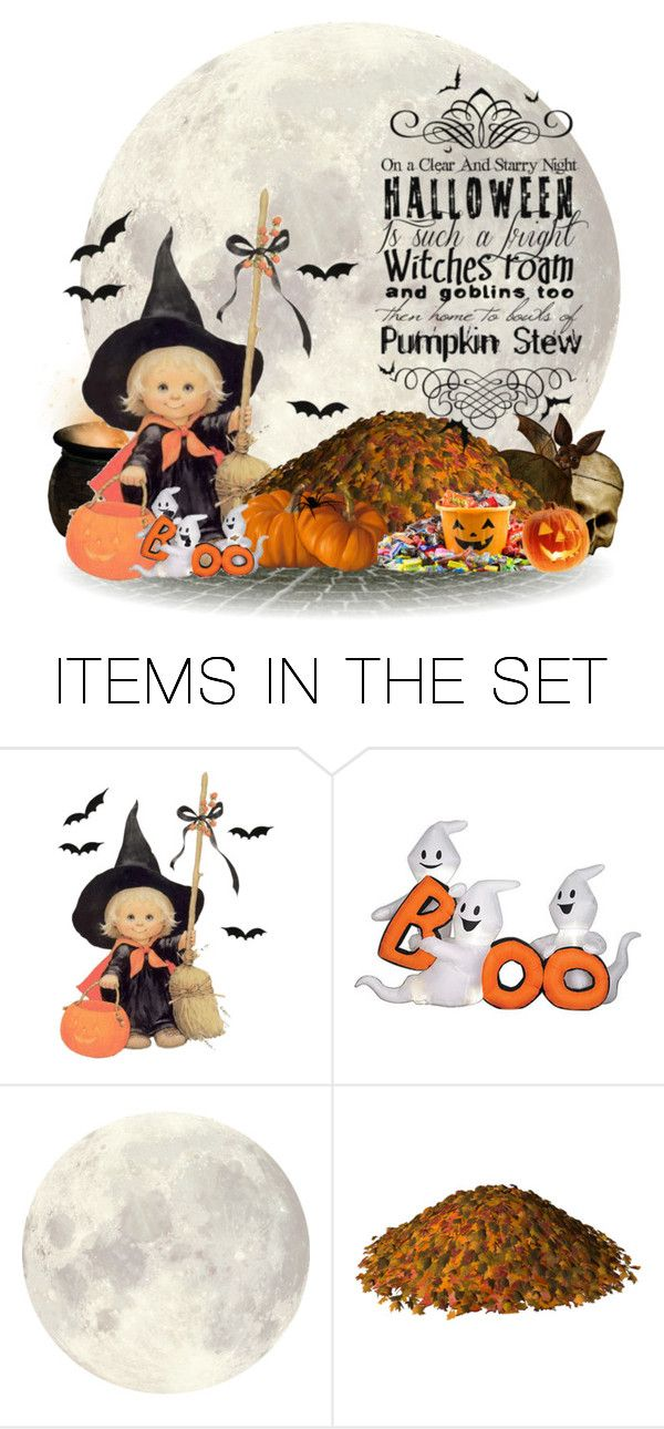 """""""Halloween Moon"""" by rainbowroad96 ❤ liked on Polyvore featuring art"""