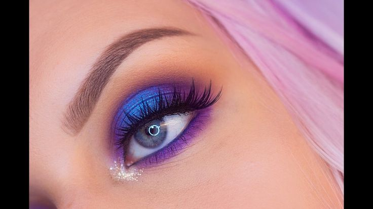 Blue and Purple Halo Eyeshadow Makeup Tutorial with Urban Decay Full Spectrum Palette