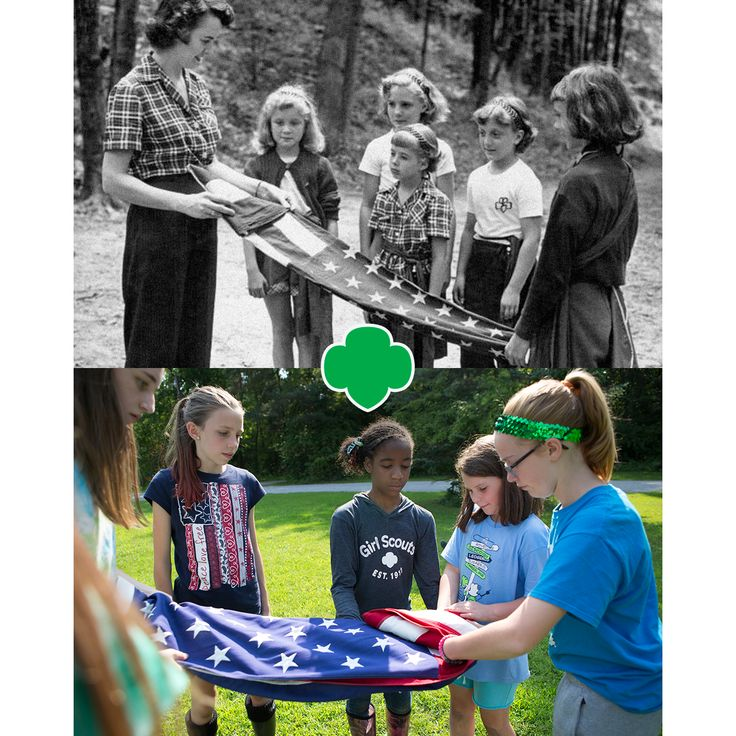 Honor. Respect. Tradition.   #FlagFolding #Camp #GirlScouts
