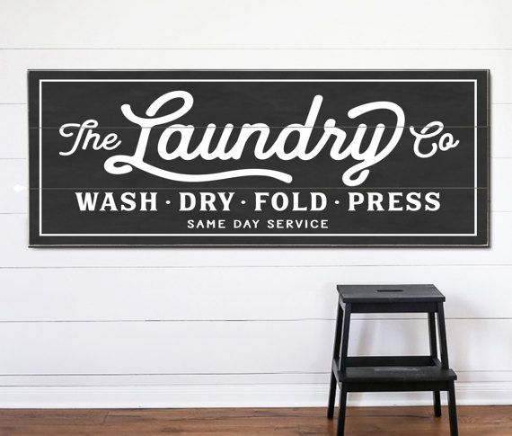 make a statement with our signature line of functional typographic laundry art the perfect addition to any interior space these designs pack a purposeful