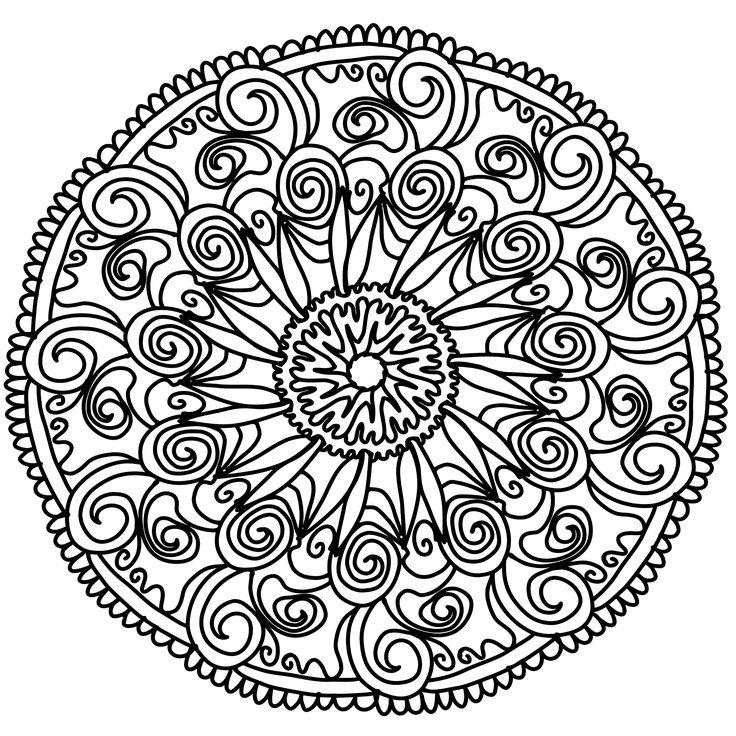 Kostenlose Mandalavorlagen herunterladen Mandala Vorlage