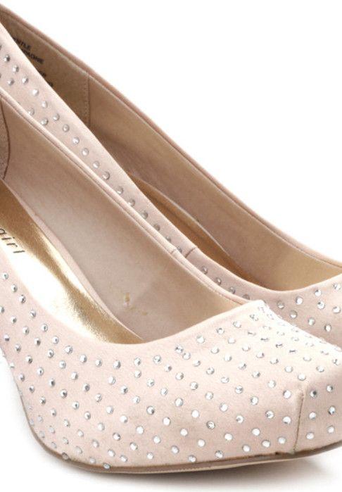 Trending satin stilettos and platform pumps with embellished and stones  via @Roposo @Steve Benson MADDEN