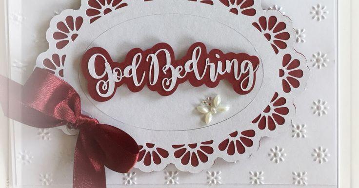 "Et hurtigt ""God Bedring"" kort til en nabo, som er på sygehuset ..   Den ovale doily er en skærefil fra Silhouette storen .. og ""God Bedrin..."