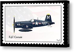 Vought F4U Corsair Digital Art by Arthur Eggers - Vought F4U Corsair Fine Art Prints and Posters for Sale