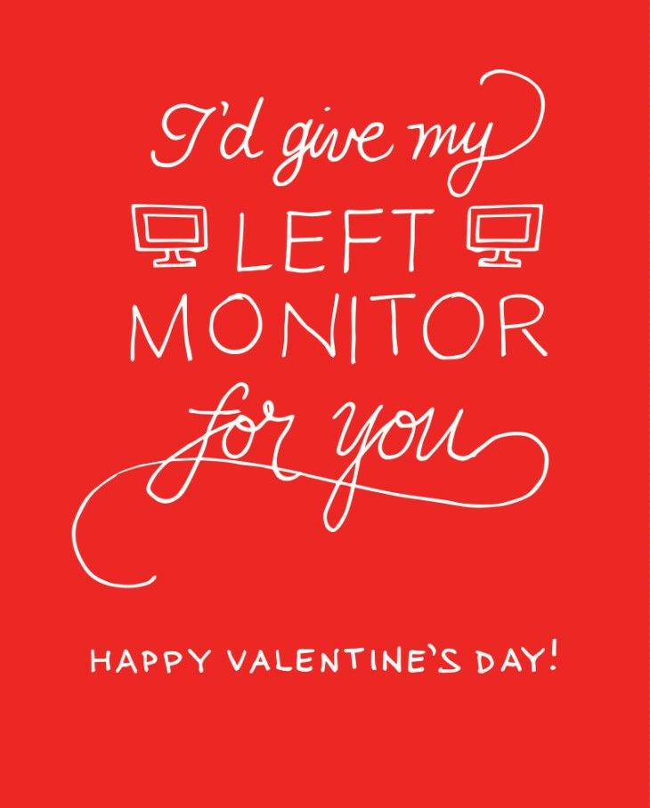 Silly Card For Your Valentine Coworkers With Images Happy