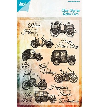 Joy clear stamps Retro Cars (Babs)
