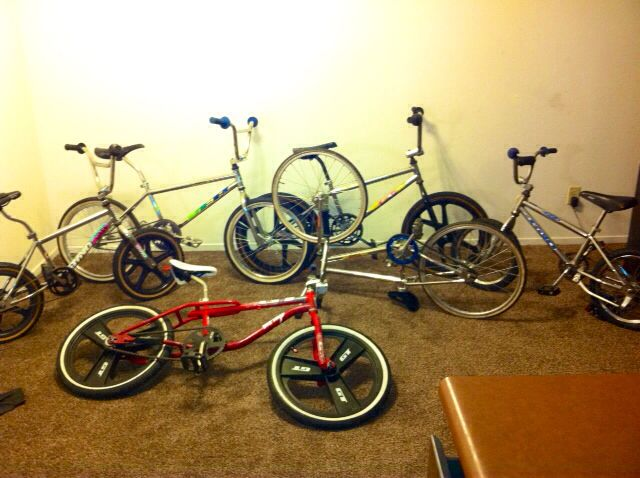 heres sum more of my gt bmx bikes 2 16in dyno vfr 87 & early 90s n 4 20in gt bmx bikes 89 gt vertigo 90 dyno vfr 89 gt mach one chrome n 20in gt racing bike with gt stadium rims n tires