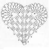 Risultati immagini per vzor pletení srdce