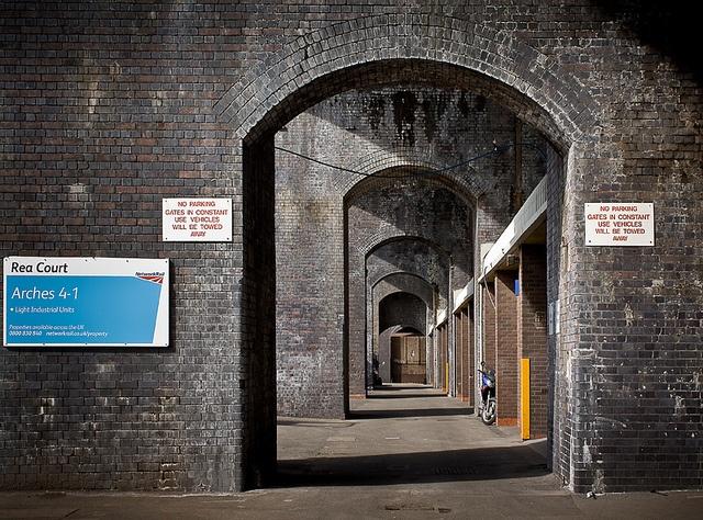 Railway Arches, Digbeth, Birmingham, via Flickr.