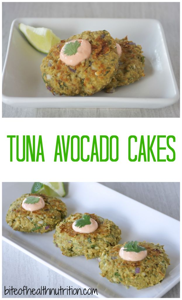Tuna Avocado Cakes - Bite of Health Nutrition