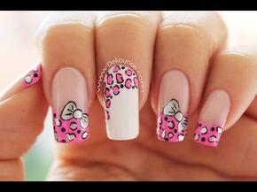 como hacer Decorado de uñas paso a paso en colores con animals print en estilo zebra OLNAIL - YouTube