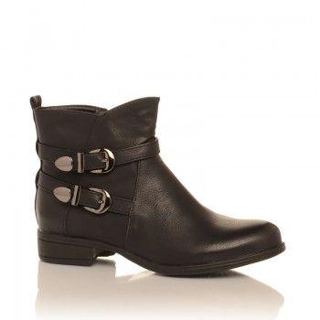 Ghete Adventure - Ghetele Adventure de culoare neagra sunt un model ideal de purtat pe durata iernii. Prevazute cu un sistem de prindere in doua catarame, si o talpa groasa si rezistenta la apa, aceste cizme sunt ideale pentru deplasarile prin oras.