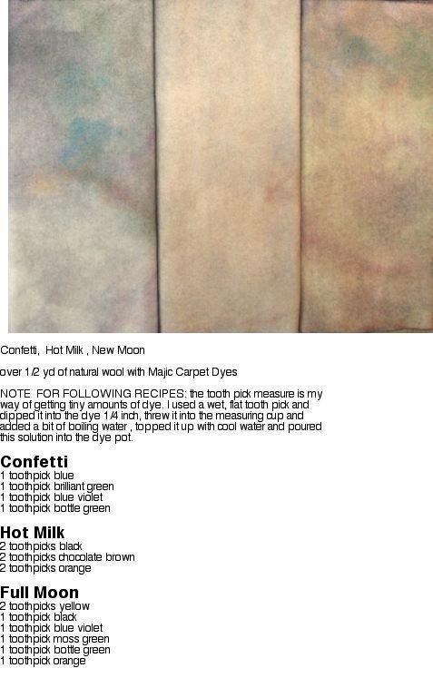 The Majic Carpet Club ( Free Admission) - The Wanda Way Studio formulas for Majic Carpet Dyes