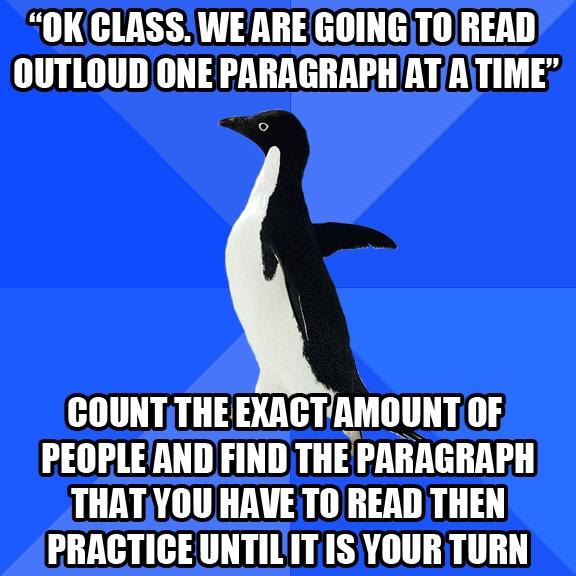...Single Time, Awkward Penguins, Hate Reading, So True, Bible Readings, Elementary Schools, True Stories, Social Awkward, High Schools