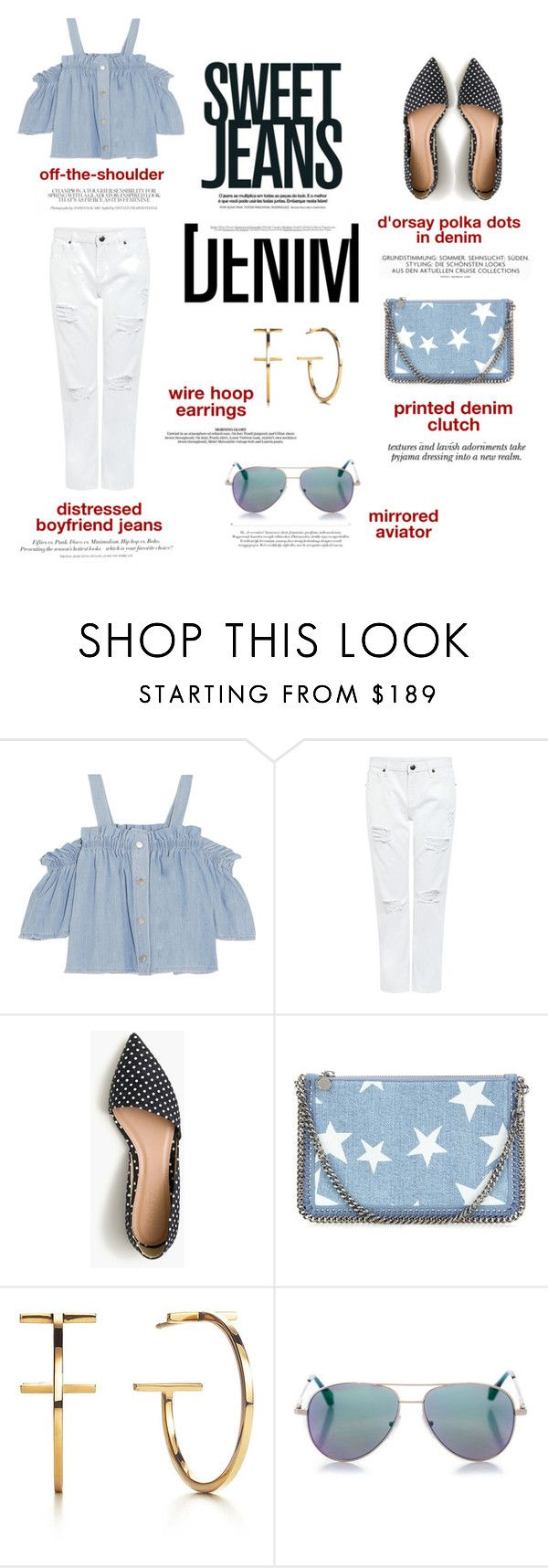 """""""head to toe in denim"""" by cheetakat12 ❤ liked on Polyvore featuring Steve J & Yoni P, Edit, H&M, J.Crew, STELLA McCARTNEY, Nicole, Cutler and Gross and Denimondenim"""