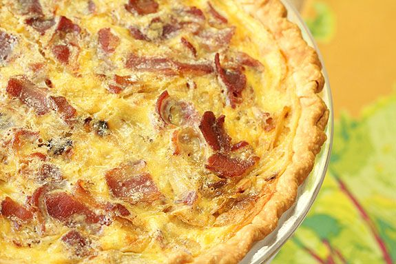 Quiche Lorraine with Caramelized Onions IS for Real Men | Recipe