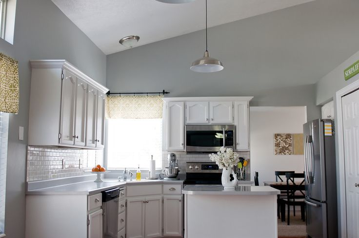 sherwin williams argos gray walls cabinets painted white