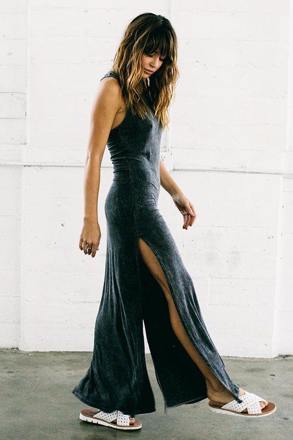 Florence Maxi Dress - Wash Graphite