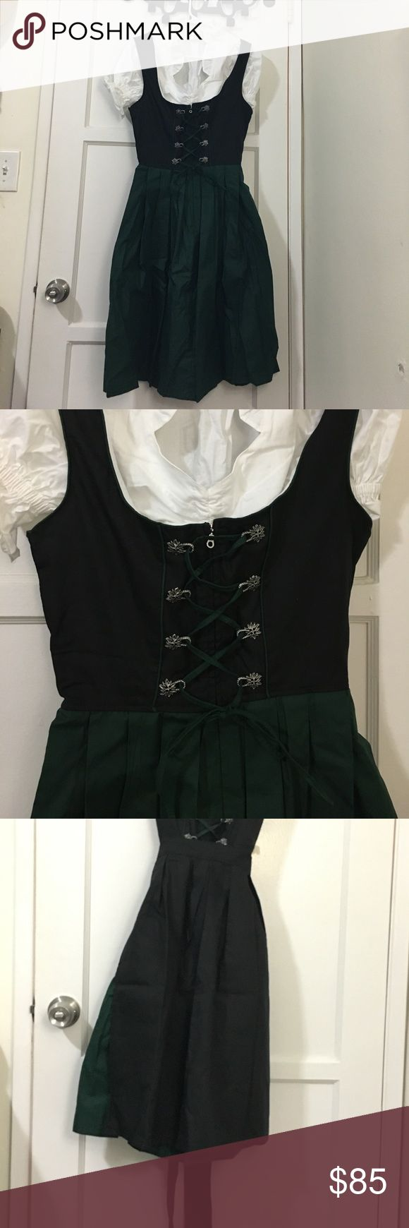 Bavarian women's midi dirndl dress (3 pieces) This is an authentic dirndl dress complete with a blouse and apron straight from Amazon. I opened it, realized it was too large for me, and failed to take it to the tailor in time for my trip to Germany. Because of this, I no longer have any reason to own this dress. Unfortunately I removed the tags, otherwise I would return it, so maybe my derpy mistake can save you a little $$$. This thing is brand spankin' new and can't wait to help you…