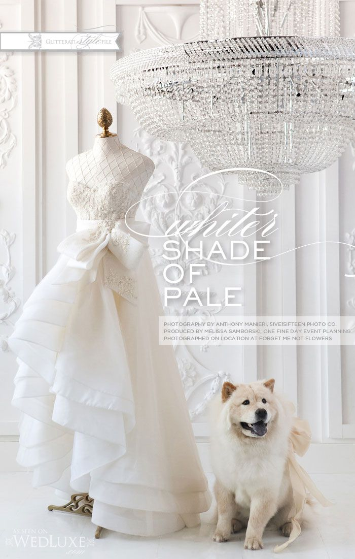 As seen in WedLuxe Magazine | Feature - Whiter Shade of Pale | Produced by  Melissa