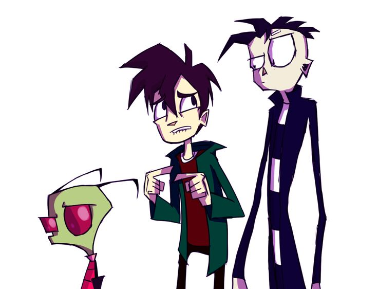 Jhonen Vasquez's Character Zim and Randy and Johnny ...