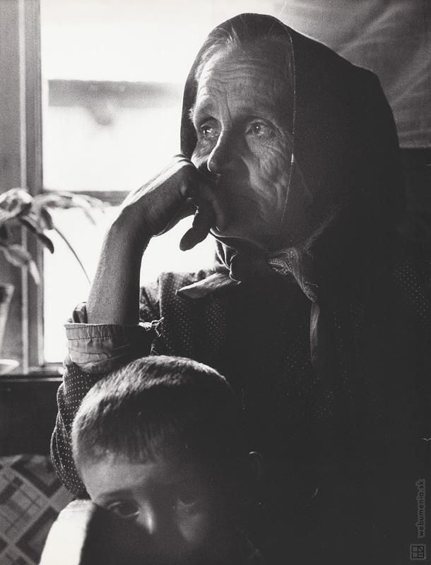 Martin Martinček: S vnukom:1970