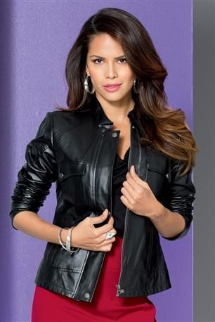 Covered-Placket-Leather-Jacket