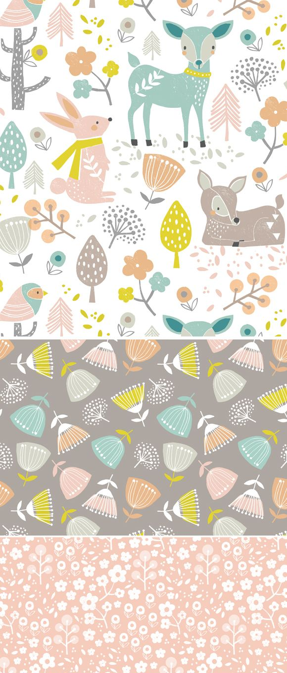 wendy kendall designs – freelance surface pattern designer » summer woodland