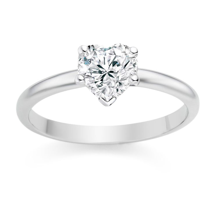 Heart Cut 0.25 Carat D/VVS1 18k White Gold Diamond Engagement Ring  £899 vashi.com