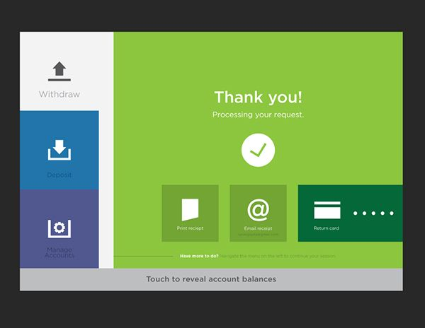 ATM UI Concept on Behance  Thank you - bold colors