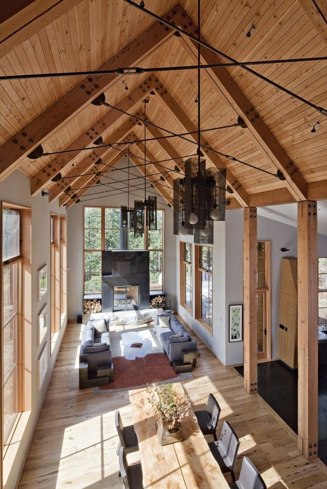 justthedesign: Dining / Living Room Tahoe Ridge House / WA Design Inc