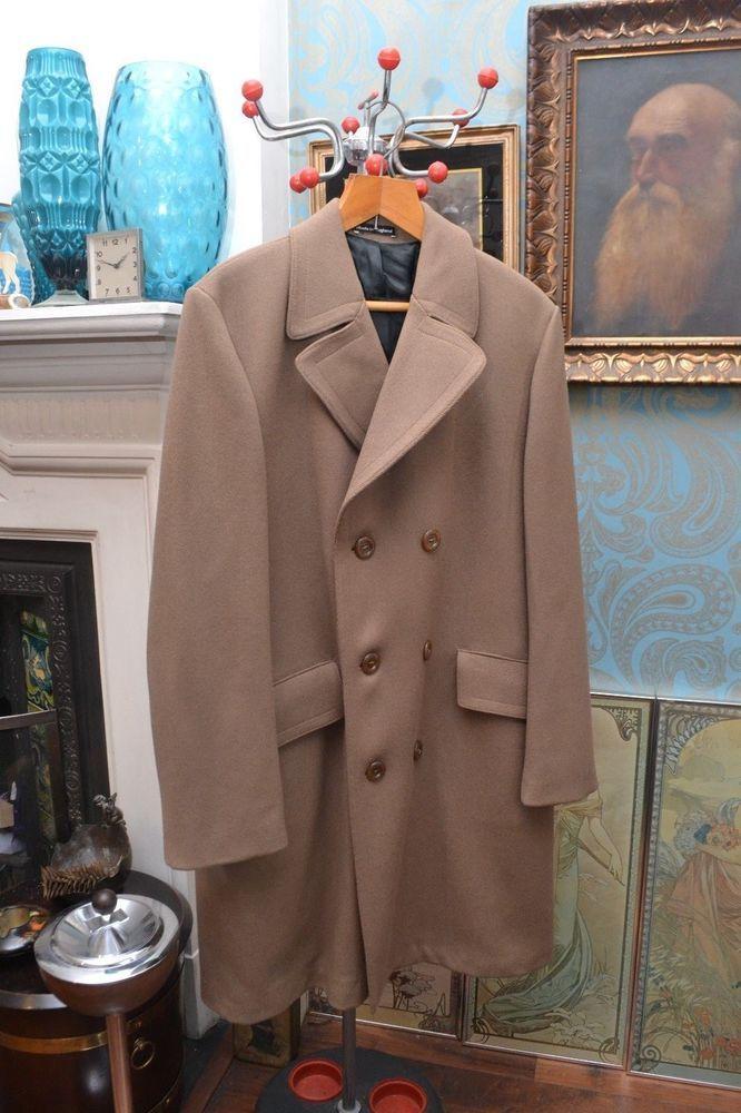 Original Vintage Pure Wool Tweed Double Breasted Men's Coat