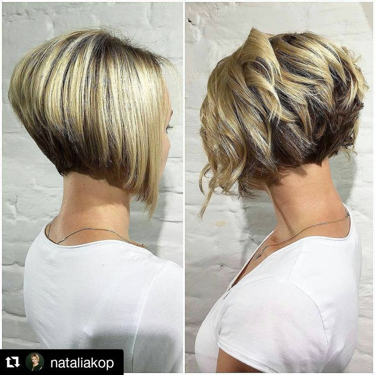 "101 Likes, 4 Comments - @bobbedhaircuts on Instagram: ""#Repost from @nataliakop Beautifull bob straight or curly just <strong>короткая растрепанная стрижка</strong> wow 💕👏👏 #longtoshorthaircut…"""