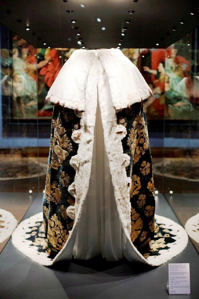 Coronation mantle of the Polish King Augustus III worn during his coronation in Krakow in 1734