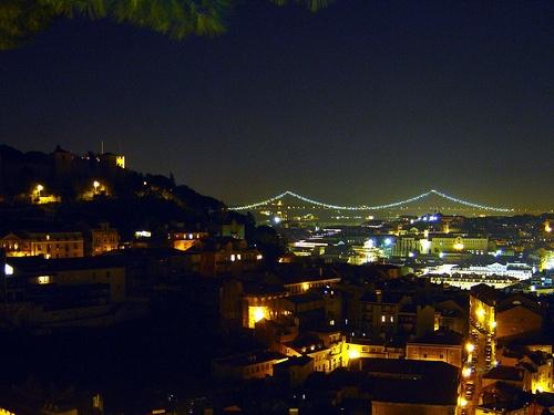 Lisboa vista do miradouro da Graça
