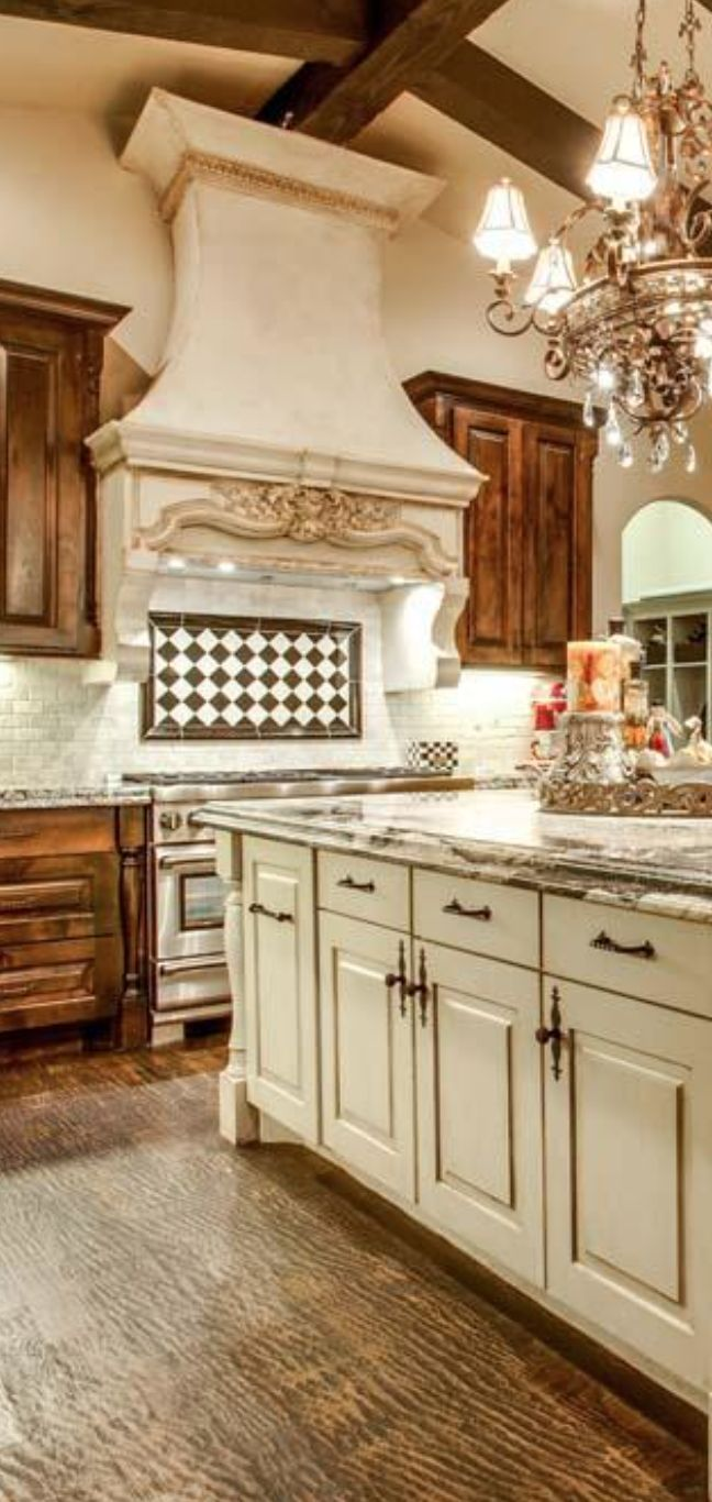 Not Sure About The Brown Cabinets But Love The White And I D Change The European Kitchensfrench Country Kitchenscountry