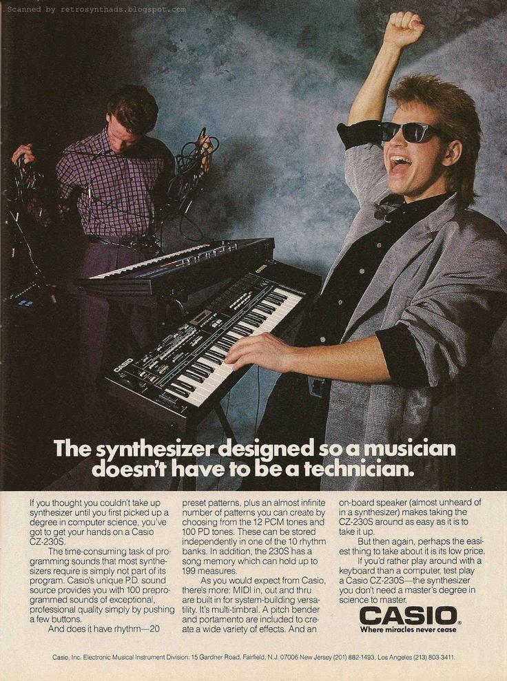 30 increíbles #anuncios impresos que le transportarán en el tiempo a la década de los #80 - #ads #marketing #advertising #tbt #Casio