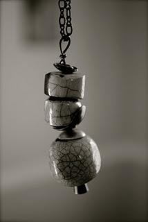 raku bead necklace