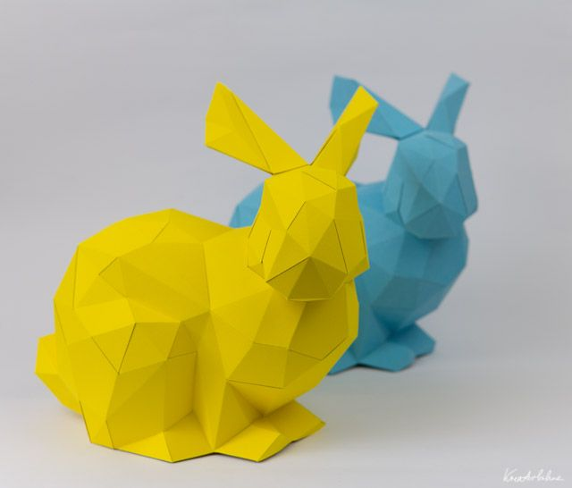 Paper bunny!! Comes with a printable pattern