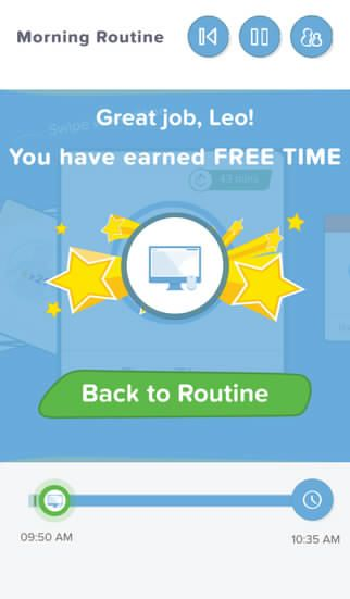 Kids earn free time and are motivated to get tasks done quicker with Brili Routines found on the App Store itunes.apple.com