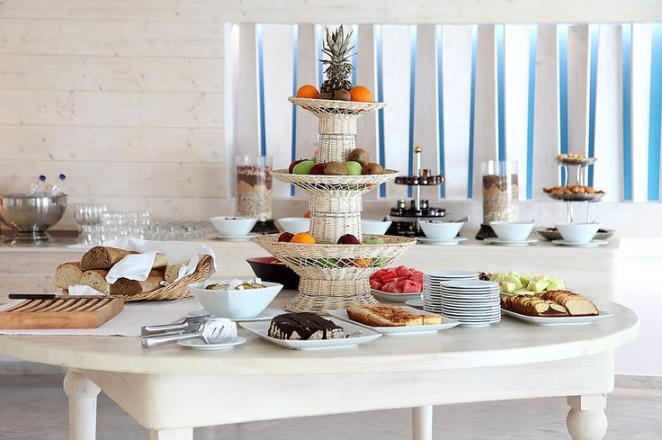 Breakfast at Ble Restaurant, Palladium Hotel, Mykonos