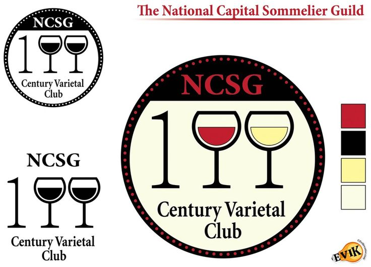Certificate and Logo Vector Design for the National Capital Sommelier Guild – Century Club.