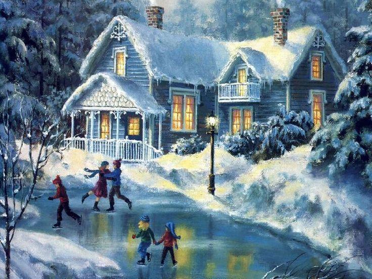 christmas winter scenes free desktop wallpaper winter scenes