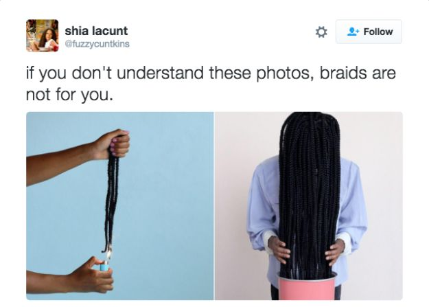 The two things you knew to do to keep your braids on point: | 31 Hilarious Tweets Only Black People Will Understand
