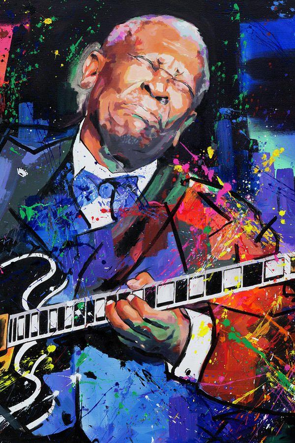 Bb King Portrait By Richard Day Musical Art Guitarist Art Musician Art