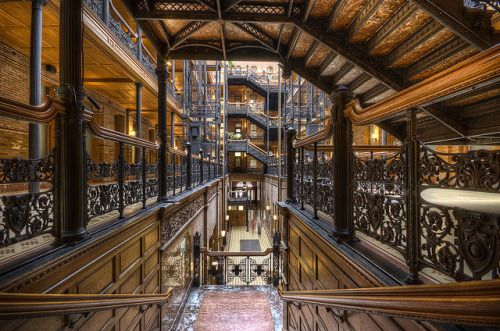 s-h-e-e-r:The Bradbury Building, built in 1893 is considered as...