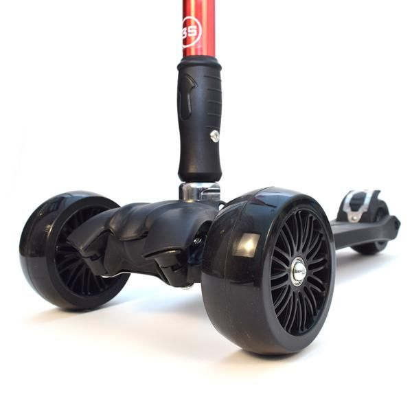 """RGS-3 Red 3 Wheel Kick Scooter with 2"""" Heavy Duty Wheels 